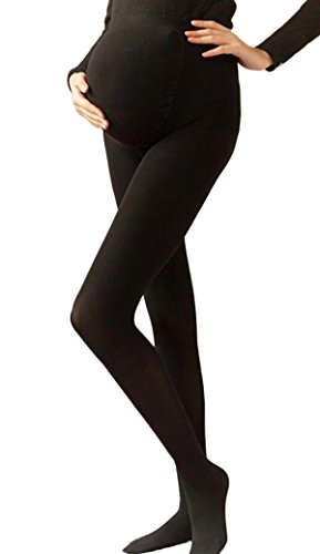 Niyatree Plus-Size Pantyhose Maternity Full Support Compression Stockings 120 Denier Black