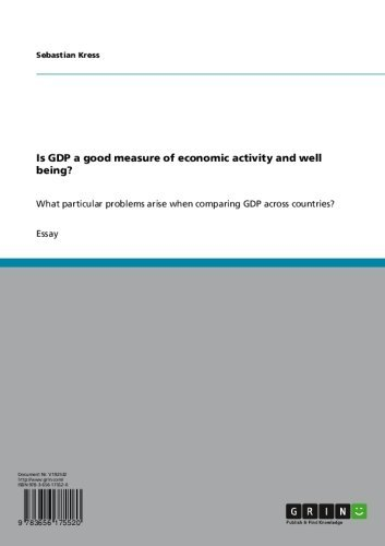 Is GDP a good measure of economic activity and well being?: What particular problems arise when comparing GDP across countries? PDF