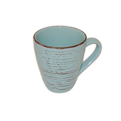 Geschirr Landhaus Blau Brown-Washed Tasse Becher Teller Schüssel Müslischale (Becher)
