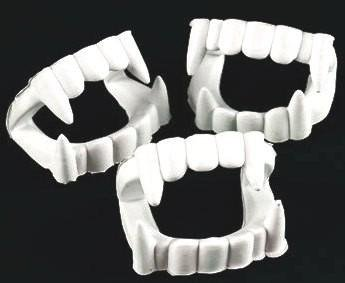 144 Plastic White Teeth, Vampire Fangs, Party Favors, Costume Accessory