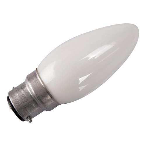 Eveready 20 X 60W Bayonet Cap (B22) Opal/Pearl (White) Finish Candle Bulbs - Pack Of 20 [Eu Specification: 220-240V]