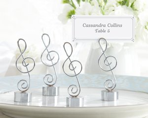 Love Songs Silver-Finish Music Note Place Card/Photo