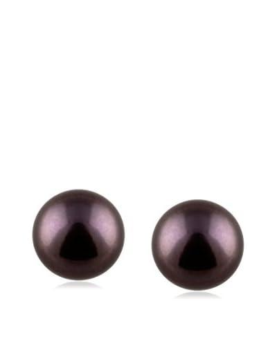 Splendid 10-10.5mm Black Freshwater Pearl Stud Earrings