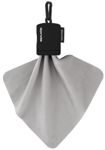 Spudz SPBK01 6x6 Micro Fibre Lens Cloth In Pouch -Black