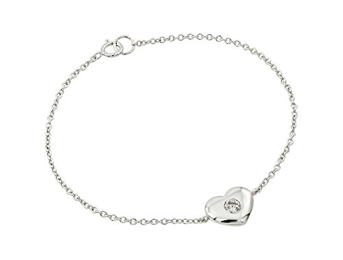Sterling Silver CZ Cubic Zirconia Heart Bracelets For Children & Women 7
