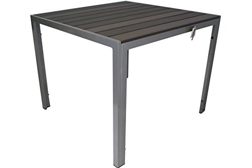 Kynast Aluminium Gartentisch 90 X 90 Cm Anthrazit