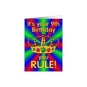 Amazon.com: Birthday Crown 9 year old Card: Toys & Game