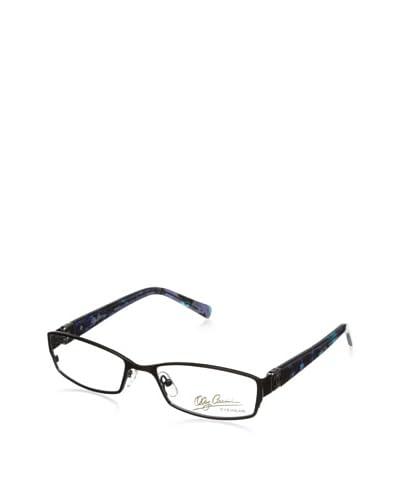Oleg Cassini Women's OC Interlock Eyeglasses, Shiny Black