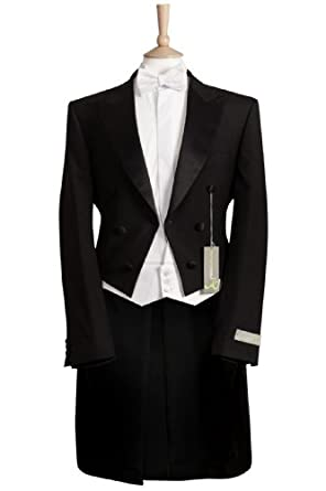Mens Black Evening Tailcoat Tails White Tie