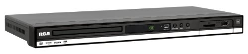 RCA DRC288SU Upconverting DVD Player with SD Card Slot and USB Port (Black)