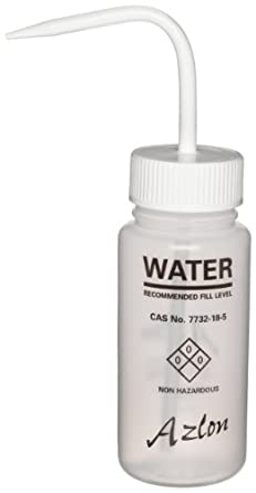 Azlon 506955-0001 250ml Wash Bottle With Label Marked For Water (Case Of 5)