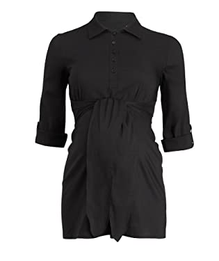 Maternity Black Tie Shirt