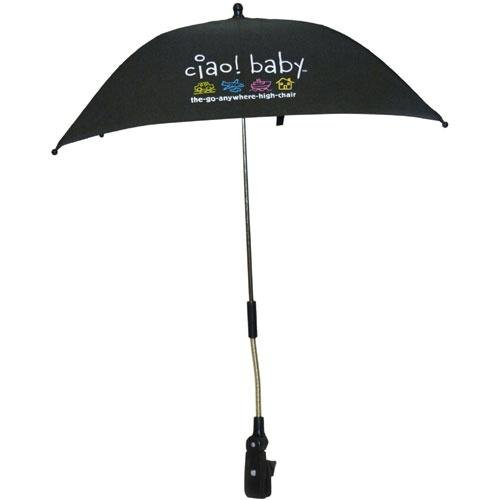 ciao! baby Clip On Umbrella, Black - 1