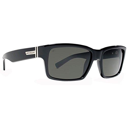 VonZipper Fulton Men's Polarized Casual Wear Sunglasses - Black Gloss/Grey Poly / One Size Fits All