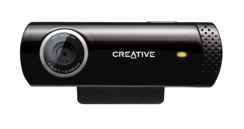 Creative Live! Cam Chat HD 720P, 5MP Webcam (Black)