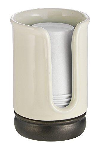 mDesign Dispenser Bicchieri di Carta per Ripiani Bagno - Vanilla/Bronzo