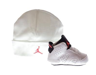 Buy Air Jordan 6 Retro Gift Pack Infants Basketball Shoes White Infrared-Black 525442-123 by Jordan