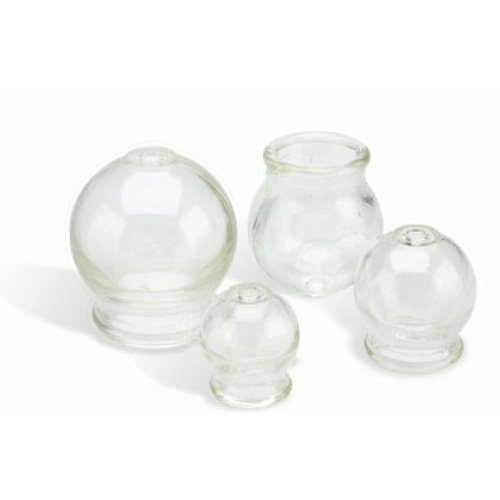 Glass Cupping Jar Flat Top#2 (Diam. Inside/Outside 1.3/1.9) Set of 24 cups, $1 each