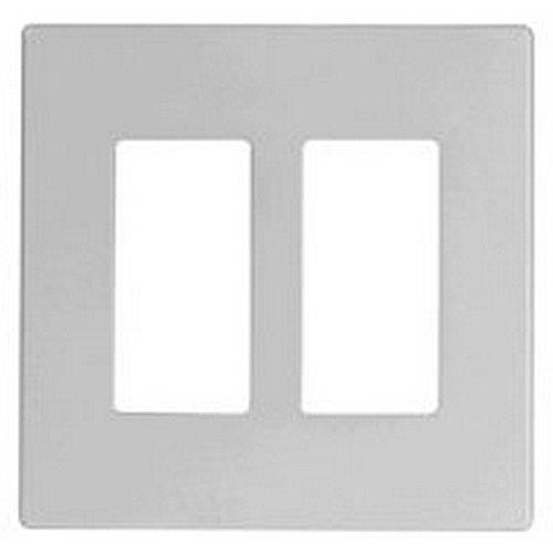 Cooper Electrical Wall Plate, Aspire MidSized Screwless, 2Ga