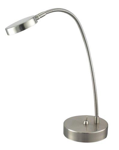 Adesso Eternity Flat Head Desk Lamp, Satin Steel
