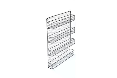 4-Tier Wire Spice Rack Storage Organizer - Wall Mount or Countertop by Trademark Innovations (Countertop Wire Rack compare prices)