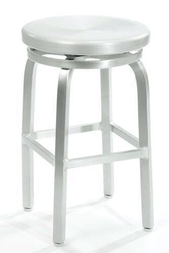 Melanie Swivel Counter Stool SWIVEL BRUSHED ALUMINMB0000CH249