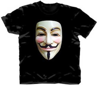 DC Comics V For Vendetta Guy Fawkes Mask T-Shirt 2XL Size : XX-Large