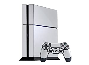 PlayStation 4 Skin (PS4) - - WINTER WHITE system skins faceplate decal mod