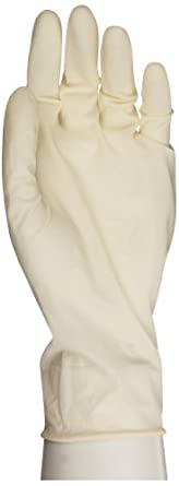 "Microflex Synetron Latex Glove, Powder Free, Extended Cuff, 11.4"" Length, 9.1 mils Thick"