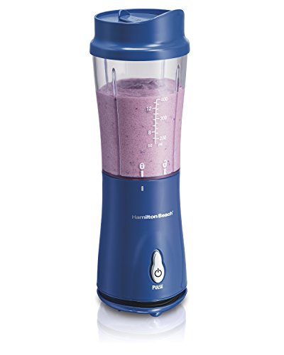 Sale!! Hamilton Beach 51132 Single-Serve Blender with Travel Lid, Blue