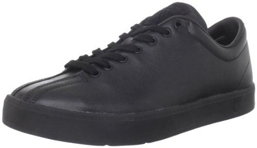 K-Swiss Men's Clean Classic Low Fashion Sneaker,Black/Black,8 M US