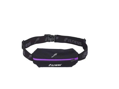 iFitness Inc iFitness Mini Sports Belt, Black/Purple, One Size Fits All