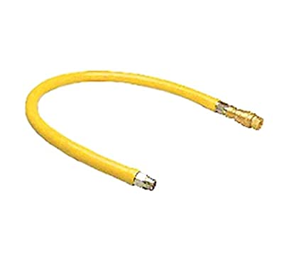 T&S Brass HG-4E-60 Gas Hose with Quick Disconnect, 1-Inch Npt and 60-Inch Long