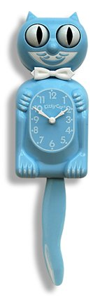 Kitty Cat Clock - Baby Blue - Limited Edition