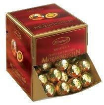MOZART KUGELN 100 PIECES BOX, 1700 grams, Mirabell Salzburg Austria, MOZART BALLS (Mozart Kugeln Chocolates compare prices)