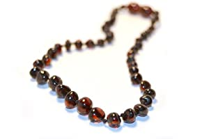 The Art of CureTM Cherry Baltic Amber Mens/Womens Adult Healing 25 Inch Necklace -w/The Art of CureTM Jewelry Pouch
