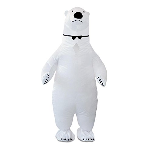 [Inflatable Polar Bear Costume, Keepfit Men's Inflatable Adult Size Halloween Costumes] (Make Lego Costume Legs)