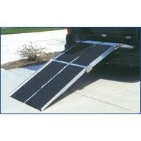 """84"""" Portable Rear Door Van Ramp for Scooters, Wheelchairs and Power Chairs"""