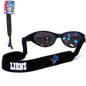 NFL Detroit Lions Neoprene Sunglass Strap, Black