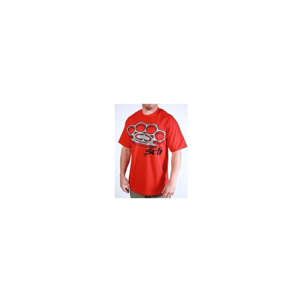 SRH Knuckle Up T Shirt   Large/Red Automotive