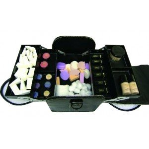 City Lights Deluxe Beauty Travel Case, Black