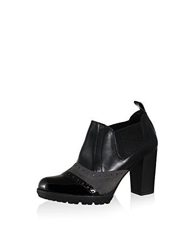 Esther Garcia Ankle Boot schwarz/grau