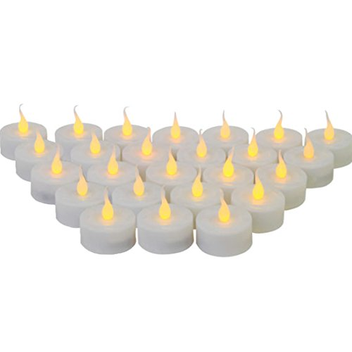 Wholesale Lot 24 Led Tealight Candles Flickering Flameless