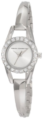 French Connection Ladies Watch FC1038S with Stone Silver Dial