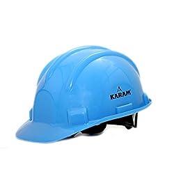Karam PN521B Plastic Safety Helmet with Nape, Blue