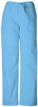 Cherokee Workwear Unisex Drawstring Scrub Pant QW4100R XX-Small Blue Mist