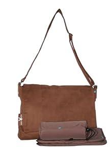 Wallaboo Messenger Changing Bag (Chocolate) from Wallaboo