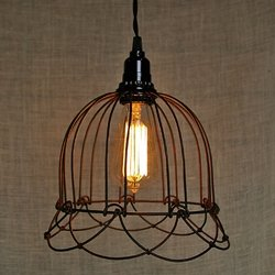 Pendant Light Small Wire Bell Lamp Plug In Home Kitchen