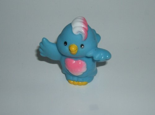 Little People Bluebird (Blue, White, Pink Chest Feathers) 2001 Mattel Replacement Animal Figure - Fisher Price Zoo Doll Circus Ark Bird Toy Pet Shop - 1