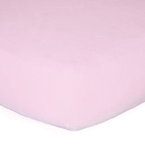Go Mama Go designs Minky Crib Sheet, Pink
